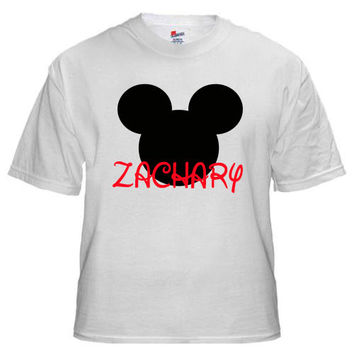 Mickey Mouse Personalized T-shirt with Name - Birthday shirt, Party shirt, holiday shirt