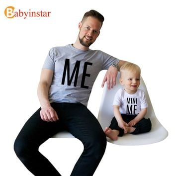 New Family Look Summer ME and MINI ME Pattern Family Men Boy t shirt Father and Son Clothes Top Tee Family Matching Outfits