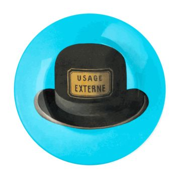 Magritte Teal/Hat Plate - The Afternoon