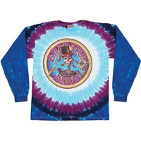 Grateful Dead Men's  Queen Of Spades Tie Dye  Long Sleeve Multi