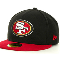 San Francisco 49ers NFL Black Team 59FIFTY Cap