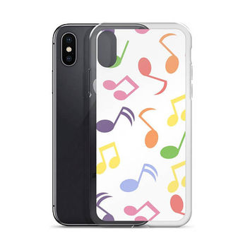 iphone X case music, music phone case, gifts for musicians, music lover, musical note gift for musicians, iPhone 5/5s/Se, 6/6s, 6/6s Plus