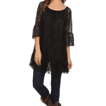 Bobbi Lace Plus Size Top