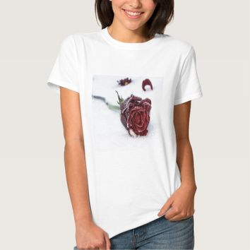 Snow Kissed Rose T-Shirt