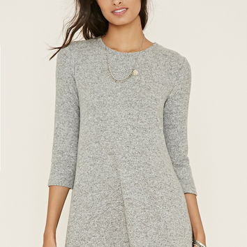 Marled Fleece Dress