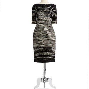 Teri Jon Patterned Sheath Dress