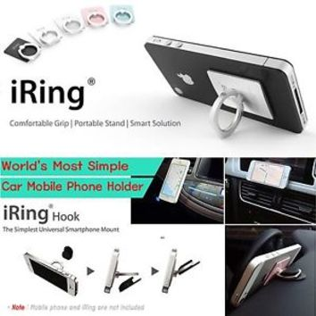 iRing Finger Holder Stand / iRing Hook Car Dashboard Mount Dock AAUXX Korea Made