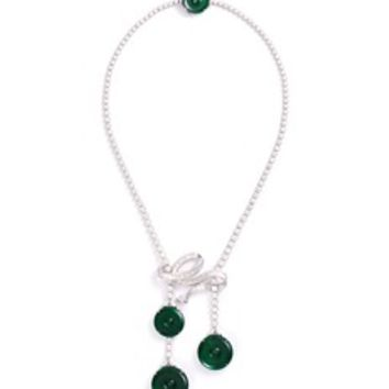 LC COLLECTION JADE | Diamond jade 18k white gold disc necklace | Women | Lane Crawford - Shop Designer Brands Online
