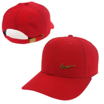 Red Nike Baseball snapback cap Hat