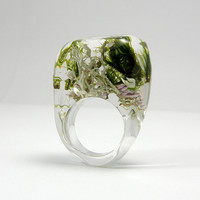 Clear Forest Ring by sisicata on Etsy