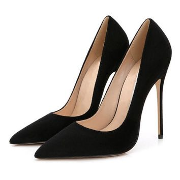 Stilettos Womens Shoes High Heels 12CM High Heels Purple Shoes Pumps Women Heels Sexy Pointed Toe Wedding Shoes For Woman B-0049