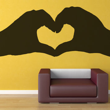 Vinyl Wall Decal Sticker Heart Hands #OS_MB726