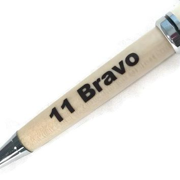 11 Bravo -- Custom Pen for an Infantry Soldier of US Army Great Present SJS135a