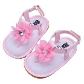Bobora Brand Summer Style Children Sandals Girls Princess Beautiful Flower Shoes Kids Flat Sandals Baby Girls Shoes