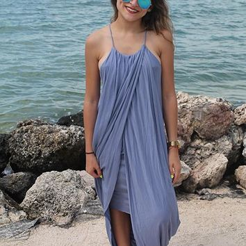 Jenna Maxi Dress - Chambray Blue