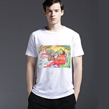 Fashion Short Sleeve Summer Men's Fashion Cotton Strong Character Tee Casual T-shirts = 6451469187