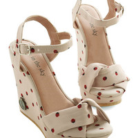 ModCloth Quirky Ladybug Crossing Wedge