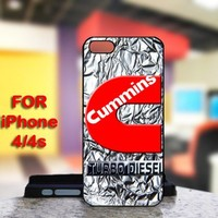 CUMMINS Turbo Diesel For IPhone 4 or 4S Black Case Cover