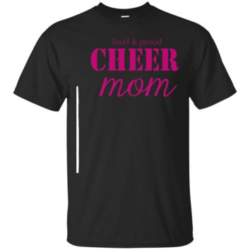 Cheer Mom Shirt Cheer T Shirt Loud And Proud Short Sleeve_Black