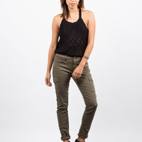 Cargo Pocket Skinny Denim Pants