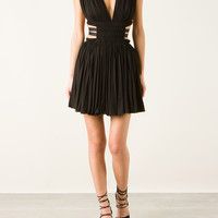 AZZEDINE ALAÏA PLEATED SCOOP NECK DRESS