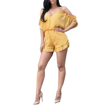 Ruffled ladies stylish Romper