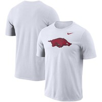 Men's Nike White Arkansas Razorbacks Performance Cotton School Logo T-Shirt