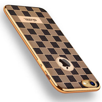 High quality lattice phone case For iPhone 7 Case Series soft material For apple iPhone 7 Plus case fashion covers -0405