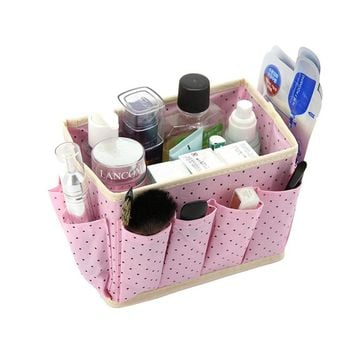 DINIWELL  Home Storage Box Desk Organizer Folding Office Desk Storage Organizador Jewelry Cosmetic Makeup Box