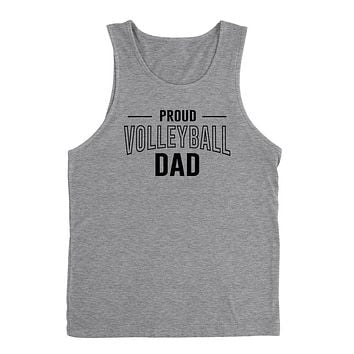 Proud volleyball dad volleyball team squad game day sport dad love volleyball Father's day Tank Top
