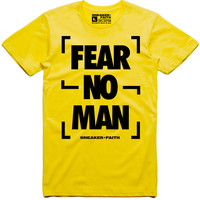 FEAR NO MAN Sneaker Tees Shirt - Nike Air Max Frequency Pack Bumble Bee