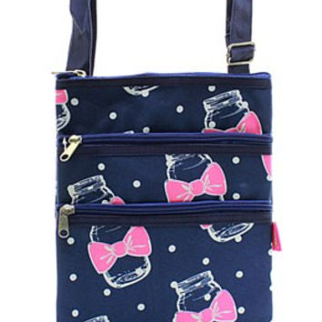Mason Jar Print Messenger Bag