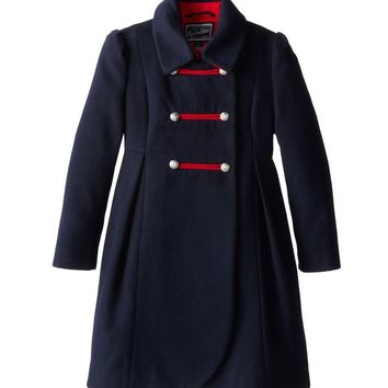 Rothschild Midnight Faux Wool Petal Front Military Coat
