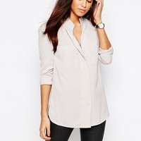 Warehouse Collarless Shirt