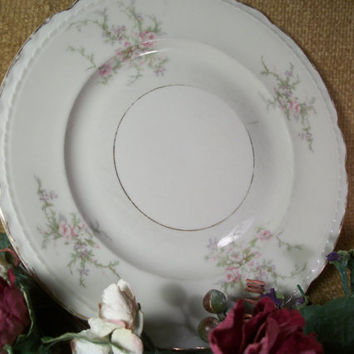 Vintage Plate Arcadian Fine China Old Rose Pattern Salad Dessert Serving Dish Cottage Chic Pink Tableware Replacement China Mix Match