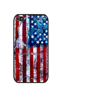Rubber Case watercolor United States Flag Case for iPhone 4/4S