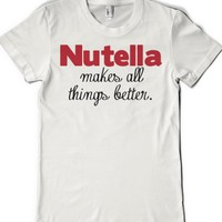 Nutella Love-Female White T-Shirt