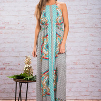 Time To Travel Maxi Dress, Mint