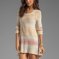 Free People Block of Stripes Pullover in Caramel Combo from REVOLVEclothing.com