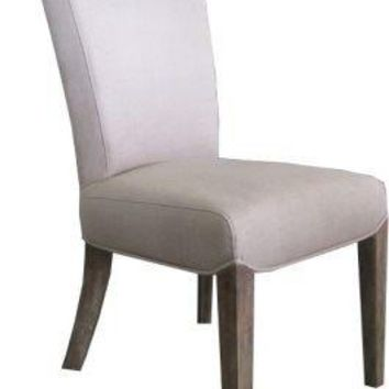Linen Dining Side Chair - Clay Oak - HH.CH.20