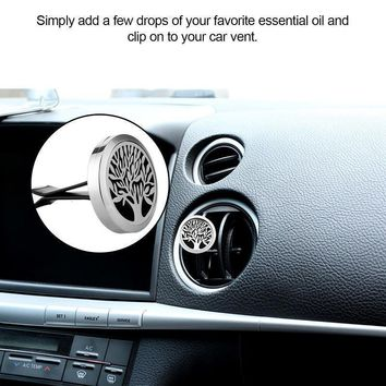 Stainless Steel Magnet Car Air Vent Freshener Perfume Clip-on Car