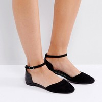 Park Lane Flat Ankle Tie Ballerina at asos.com