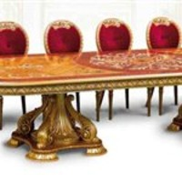 Luxury handmade furniture. Imported from Europe many sizes and matching items available. Luxury handmade furniture. Empire Style dining table
