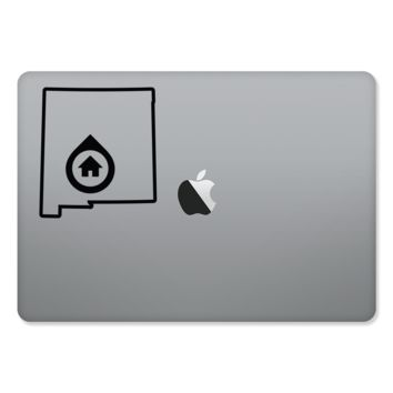 Albuquerque New Mexico Home Outlined sticker for MacBooks and Apple Devices