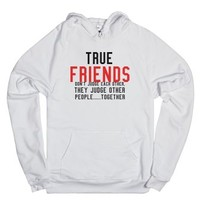 True Friends.-Unisex White Hoodie