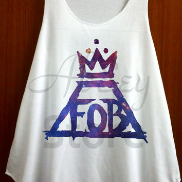 FOB Fall Out Boy Shirt Symbol Shirt Tank Top Vest Sleeveless Tee Tunic Women Shirts - Size S M