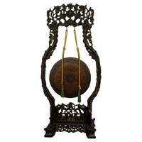 Antique Carved Chinese Gong