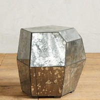 Faceted Mirror Side Table by Anthropologie in Silver Size: Side Table Wall Decor