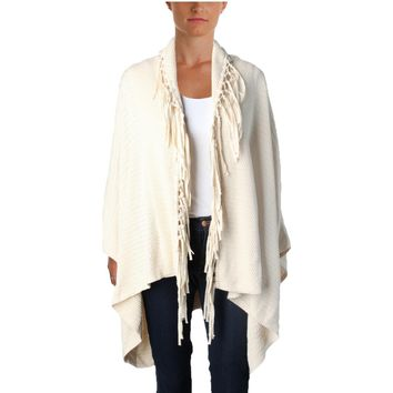 Lauren Ralph Lauren Womens Fringe Open Front Cardigan Sweater