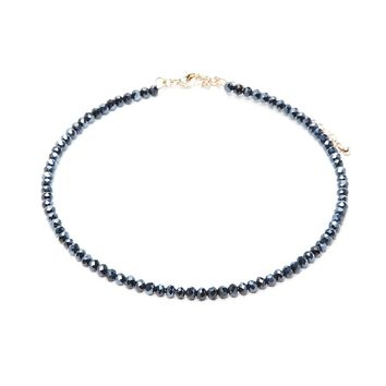 Faux Gem Beaded Choker